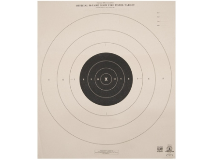 NRA Official Pistol Targets B-6 50 Yard Slow Fire Tagboard Package of 100