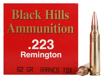 Black Hills Ammunition 223 Remington 62 Grain Barnes Triple-Shock X Bullet Hollow Point Lead-Free Box of 50