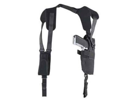 "Uncle Mike's Pro-Pak Vertical Shoulder Holster Right Hand Large Frame Semi-Automatic 3-.75"" to 4.5"" Barrel Nylon Black"