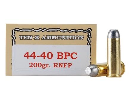 Ten-X Cowboy Ammunition 44-40 WCF 200 Grain Lead Round Nose Flat Point BPC Box of 50