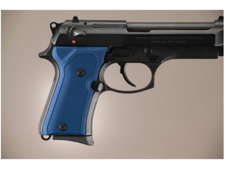 Hogue Extreme Series Grip Beretta 92FS Compact Checkered Aluminum Matte Blue