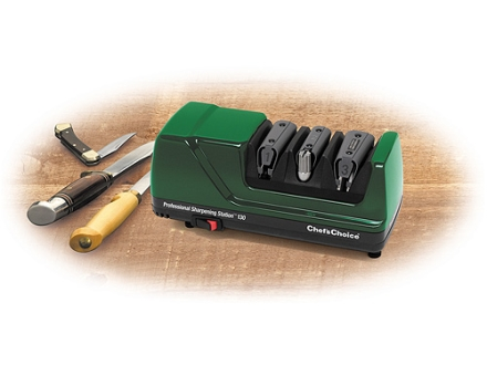 Chef's Choice Professional Sharpening Station Electric Knife Sharpener #130 Green