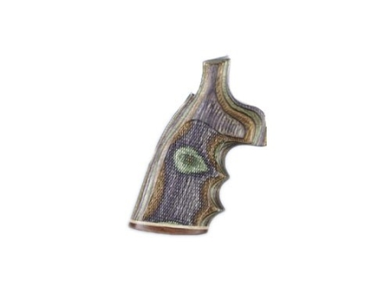 Hogue Fancy Hardwood Grips with Accent Stripe, Finger Grooves and Contrasting Butt Cap Taurus Medium and Large Frame Revolvers Square Butt Checkered