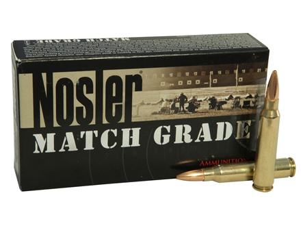 Nosler Match Grade Ammunition 223 Remington 69 Grain Custom Competition Match Box of 20
