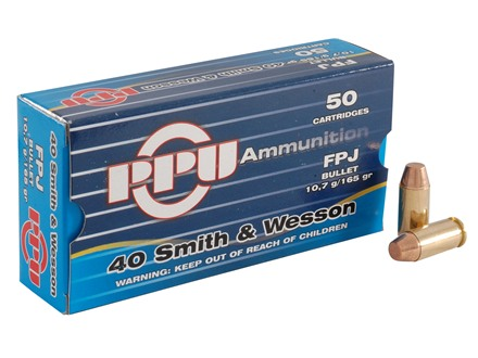 Prvi Partizan Ammunition 40 S&W 165 Grain Full Metal Jacket Box of 50