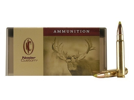 Nosler Custom Ammunition 338 Lapua Magnum 225 Grain AccuBond Spitzer Box of 20