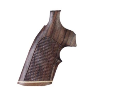 Hogue Fancy Hardwood Grips with Accent Stripe and Top Finger Groove Colt 38 SF-VI Checkered Rosewood