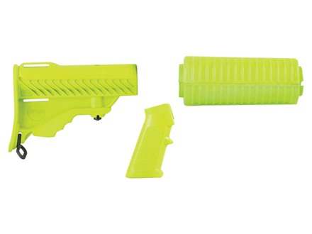 DPMS Pardus Collapsible Buttstock, Carbine Length Handguard and A2 Pistol Grip Set AR-15, LR-308 Polymer Zombie Green