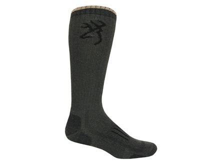 Browning Men's Ultra-Dri Midweight Boot Socks Synthetic Blend Olive Large 9-13