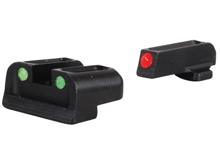 TRUGLO Brite-Site Sight Set Springfield XD, XDM Steel Fiber Optic Red Front, Green Rear
