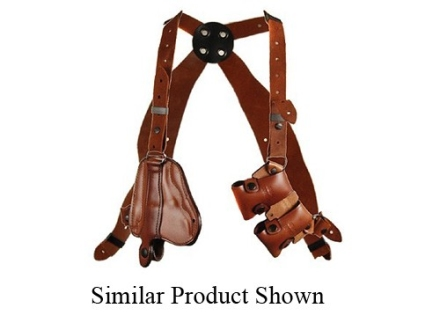 "Bianchi X16 Agent X Shoulder Holster System Left Hand Colt Detective Special, S&W J-Frame 2"" Barrel Leather Tan"