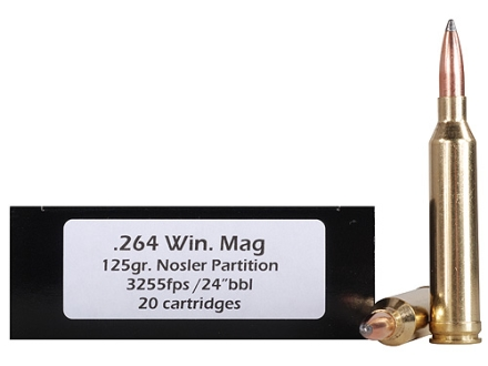 Doubletap Ammunition 264 Winchester Magnum 125 Grain Nosler Partition Box of 20