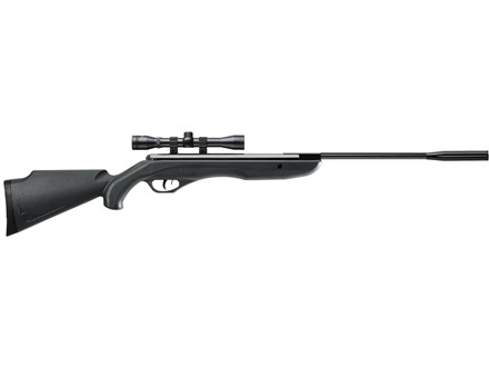 Crosman Fury Spring Break Barrel Air Rifle 177 Caliber Pellet Black Synthetic Stock Matte Barrel with 4x32mm Scope Factory Refurbished