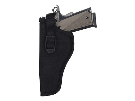 "Uncle Mike's Sidekick Hip Holster Left Hand Medium and Large Double Action Revolver 4"" Barrel Nylon Black"