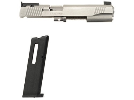 Kimber Factory Refurbished Rimfire Target Conversion Kit with Adjustable Sights 1911 Government 22 Long Rifle Silver 10-Round Magazine