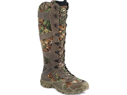 """Irish Setter VaprTrek 17"""" Waterproof Uninsulated Snake Boots Nylon and Leather Brown and Realtreee Xtra Camo"""