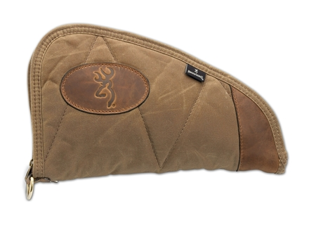 "Browning Santa Fe Pistol Rug Gun Case 11"" Waxed Cotton Canvas Tan"