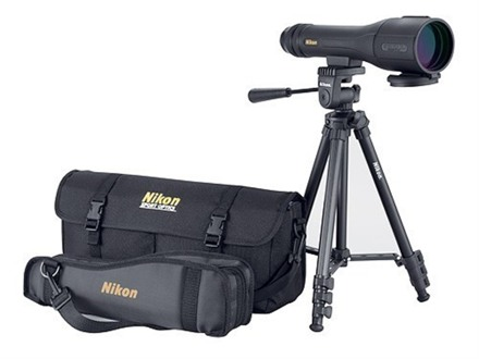 Nikon Spotter XL II Outfit Spotting Scope 16-48x 60mm Straight Body Black with Compact Tripod and Carrying Case