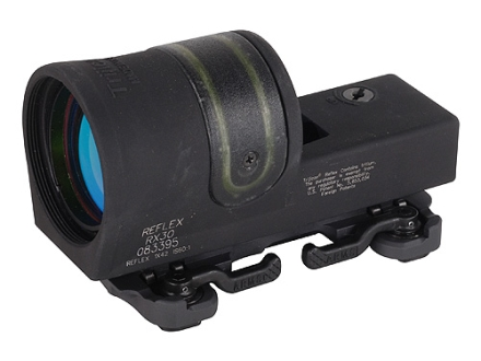 Trijicon RX30-23 Reflex Sight 1x 42mm 6.5 MOA Dual-Illuminated Amber Dot with ARMS Throw Lever Mount Matte