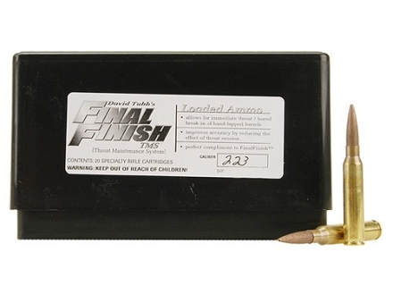 Tubb Final Finish Throat Maintenance System TMS Ammunition 223 Remington Box of 20