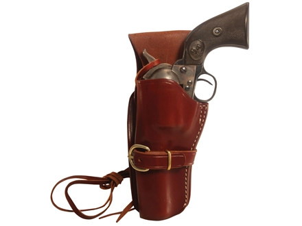 "Triple K 114 Cheyenne Western Holster Left Hand Colt Single Action Army, Ruger Blackhawk, Vaquero 5.5"" Barrel Leather Brown"