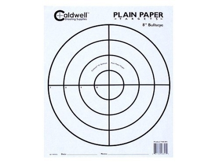 "Caldwell Plain Paper Targets 8"" Bullseye Package of 25"