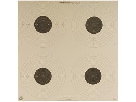 NRA Official Air Pistol Targets B-40/4 10 Meter Paper Package of 100