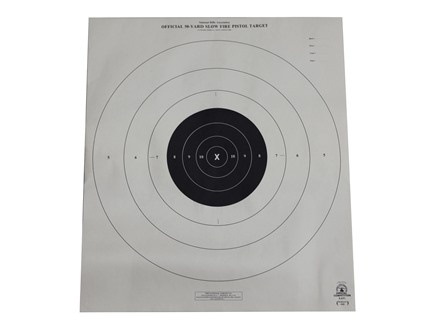 NRA Official Pistol Targets B-6 50 Yard Slow Fire Paper Package of 100