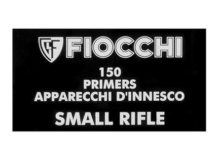 Fiocchi Small Rifle Primers Box of 1500 (10 Trays of 150)
