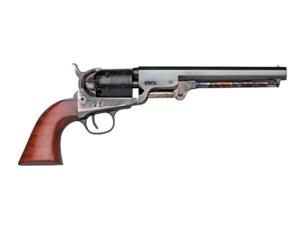 Uberti 1851 Navy London Steel Frame Black Powder Revolver with Brass Triggerguard and Backstrap 36 Caliber Blue