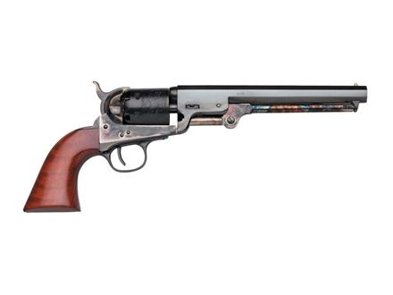 Uberti 1851 Navy London Steel Frame Black Powder Revolver with Brass Triggerguard and Backstrap 36 Caliber Blue