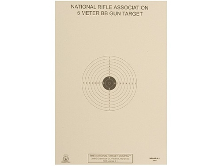 NRA Official Air Rifle Target AR-4/1 5 Meter BB Gun Paper Package of 100