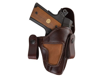 Bianchi 120 Covert Option Inside the Waistband Holster 1911 Officer Leather Brown