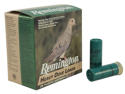 "Remington Heavy Dove Ammunition 12 Gauge 2-3/4"" 1-1/8 oz #8 Shot Box of 25"