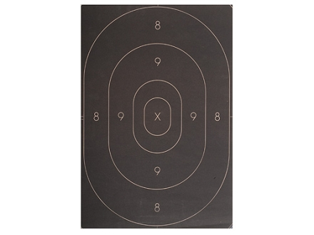 NRA Official Silhouette Targets Repair Center B-27C 50-Yard Paper Black Package of 100