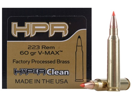 HPR HyperClean Remanufactured Ammunition 223 Remington 60 Grain Hornady V-Max Box of 50