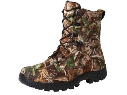 "Rocky ProLight 6"" Waterproof Uninsulated Hunting Boots Nylon Realtree APG Camo Mens 11-1/2 D"