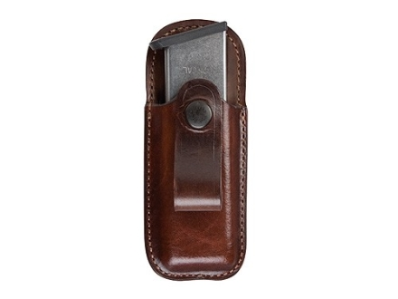 Bianchi 21 Inside the Waistband Magazine Pouch Glock 17, 22, 23 Leather Brown