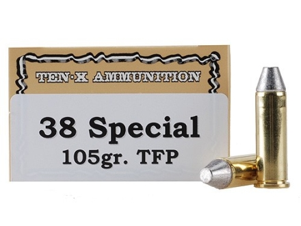 Ten-X Cowboy Ammunition 38 Special 105 Grain Lead Truncated Cone Box of 50