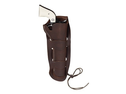 "Hunter 1080 Double Loop Holster Right Hand Colt Single Action Army, Ruger Old Army, Blackhawk, Vaquero 7.5"" Barrel Leather Antique Brown"