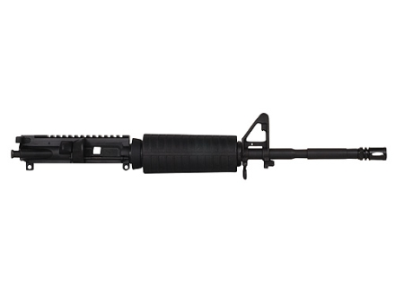 "CMMG AR-15 M4 LE A3 Flat-Top Upper Assembly 9mm Luger 1 in 10"" Twist 16"" Barrel Chrome Moly Matte with M4 Handguards, A2 Front Sight, Flash Hider"