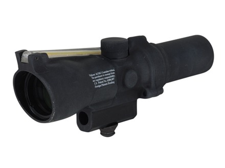 Trijicon ACOG TA45 Rifle Scope 1.5x 24mm Dual-Illuminated Amber Crosshair Reticle with AR-15 Carry Handle Base Matte