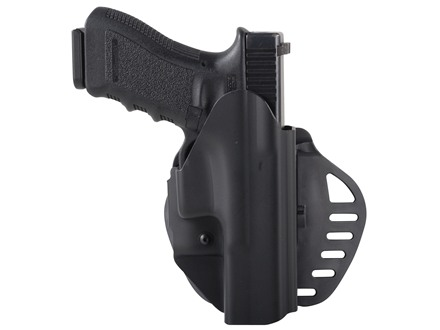 Hogue PowerSpeed Concealed Carry Holster Outside the Waistband (OWB) Right Hand Glock 17, 22, 31, 38  Polymer Black