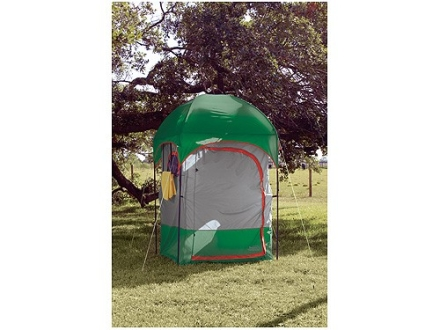 "Texsport Deluxe Camp Shower 4' 6"" x 4' 6"" x 87"" Taffeta Green and Gray"