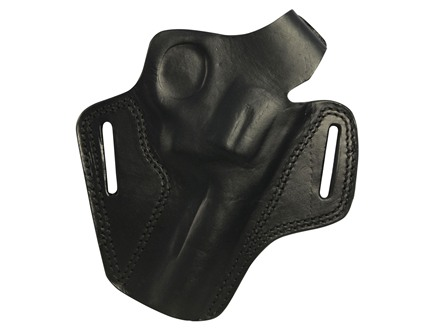 "Bulldog Deluxe Molded Holster with Thumb Break Medium Fits Revolvers with 4"" Barrels Right Handed Leather Black"