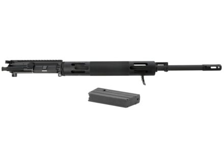 "Bushmaster AR-15 A3 Flat-Top Upper Assembly 450 Bushmaster 1 in 24"" Twist 20"" Barrel Chrome Moly Matte with Free Float Handguard, ""Izzy"" Muzzle Brake, 5-Round Magazine"