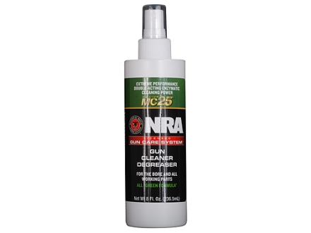 NRA Licensed Gun Care System By Mil-Comm MC25 Gun Cleaner Degreaser Bore Cleaning Solvent 8 oz Spray Bottle