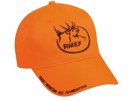 Rocky Mountain Elk Foundation RMEF Logo Cap Cotton Blaze Orange