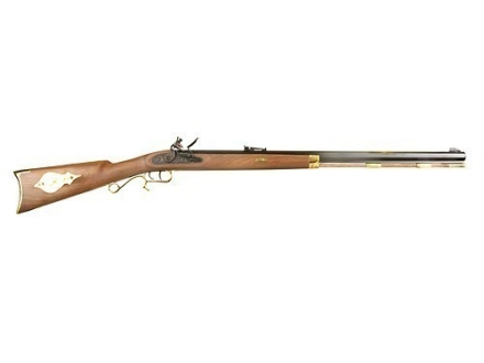 "Thompson Center Hawken Black Powder Rifle 50 Caliber Flintlock Wood Stock 1 in 48"" Twist 28"" Octagon Barrel Blue"