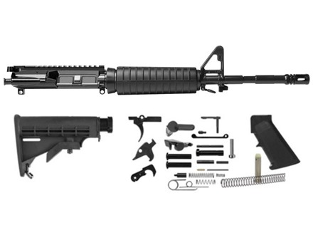 "Del-Ton M4 Carbine Kit AR-15 5.56x45mm NATO 1 in 9"" Twist 16"" Barrel Upper Assembly, Lower Parts Kit, M4 Collapsible Buttstock"
